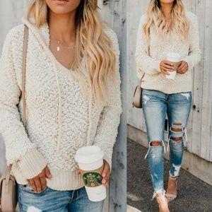 Popcorn Hoodie Sweater